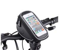 Сумка для велосипеда Mingda на руль и вынос L17,5хH8,5хW10,5 с отделением для смартфона 16,5х8,5см,