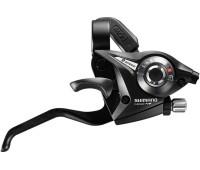Моноблок Shimano EF51 Tourney: правый 9 скоростей +трос 2050мм, цвет чёрный