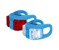 Фонари комплект KLS twins, 2 диода, 2 режима, батарейки в компл., цвет голубой