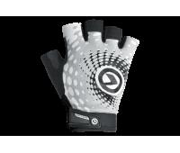 """Велоперчатки KLS """"Impact short Lycra"""", цвет белый/серый/чёрный, размер M"""