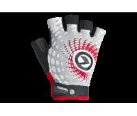 """Велоперчатки KLS """"Impact short Lycra"""", цвет белый/серый/красный, размер M"""