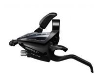 Моноблок Shimano EF500Tourney: левый 3 скорости +трос 1800мм, цвет чёрный, без упаковки