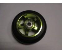 Колесо для самоката, 110мм, Alu черное-зеленый, с подшипником