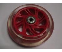 Колесо для самоката, 120 мм, красный, с подшипником и подстветкой