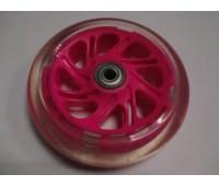 Колесо для самоката, 120 мм, розовый, с подшипником и подстветкой