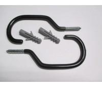Крюк на стену для велосипеда с дюбелем (2 шт / комплект)