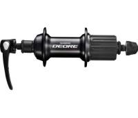 Втулка задняя Shimano T610 Deore: 32 H, 8/9/10 скоростей, QR, цвет чёрный