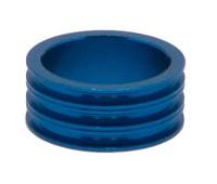 """Кольцо проставочное Neco 1 1/8"""" 15мм, алюминиевое, синий"""