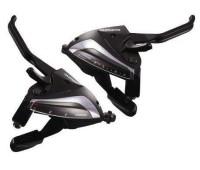 Моноблок Shimano EF65 Tourney: левый/правый 3x9 скоростей +трос и оплетка, цвет чёрный
