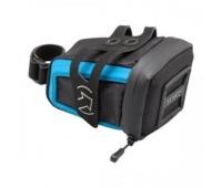 Сумка  под седло Pro Stradius Mini, цвет черный/голубой
