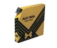Трос тормоза ALHONGA 1,5х2100мм, головка 7х6мм, нерж. сталь, гальванизированный, 1шт.