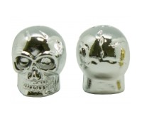 Колпачек на автониппель Nz-kn алюминиевый хромированный череп