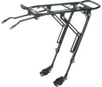 """Багажник велосипедный KW-667-01, 26-29"""", телескоп. стойки, с пружиной, серебристый"""