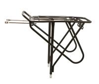 """Багажник велосипедный Bor Yueh BY-368C, 26-28"""", алюминий, с боковыми дугами, с пружиной, чёрный"""