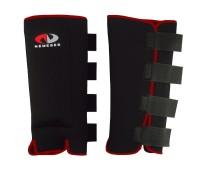 Защита голени TBS NM-618, размер M, с прозрачными ракушками. цвет: черный пара