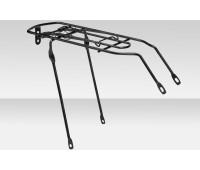 """Багажник велосипедный 24"""": стальной, для дорожных велосипедов, чёрный"""