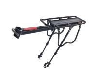Багажник велосипедный HS-022 консольный + телескопические стойки на перья вилки, алюминий, QR