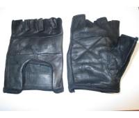Велоперчатки из кожи, размер L