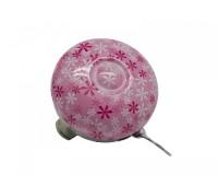 Звонок FY-040S-F4 D:54мм, сталь, розовые цветы