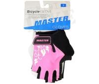 """Велоперчатки детские Master """"FS2096"""" с короткими пальцами, цвет розовый, размер XXS"""