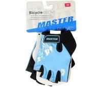 """Велоперчатки детские Master """"FS2096"""" с короткими пальцами, цвет голубой, размер XS"""
