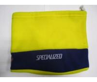 Шапка велосипедная Specialized желто-синяя флис с затяжкой зима