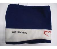 Шапка велосипедная De Rosa сине-белая флис с затяжкой зима