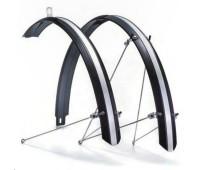 """Крылья Flinger FE-115FR, полноразмерные для велосипедов 26"""", металлопластик, комплект"""
