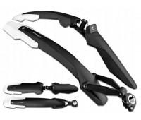 """Крылья Simpla ADHD SDR Long для велосипедов 27.5""""-29"""" с амортизаторами, черно - белые"""
