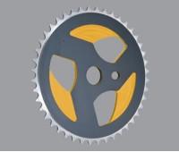"Звезда передняя Aricle для ВМХ: 36T, 1/2""х1/8"", AL6061, фрезерованная, цвет чёрный"