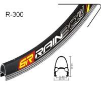 Обод 700C Rainbow R-300: 36H, непистонированный, двойной, цвет серебристый